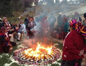 Maya fire ceremony