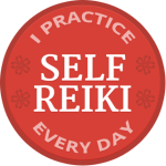 The I Practice Self Reiki Every Day Badge of Honor