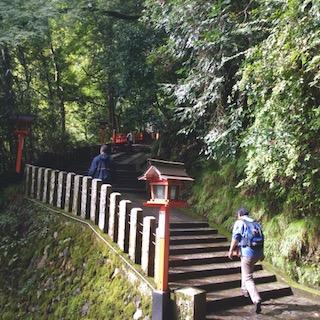 Reiki pilgrimage to Mount Kurama, Japan.