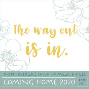 The way out is in - Graphic, Coming Home, Mini Retreat with Pamela Miles, Reiki In Medicine