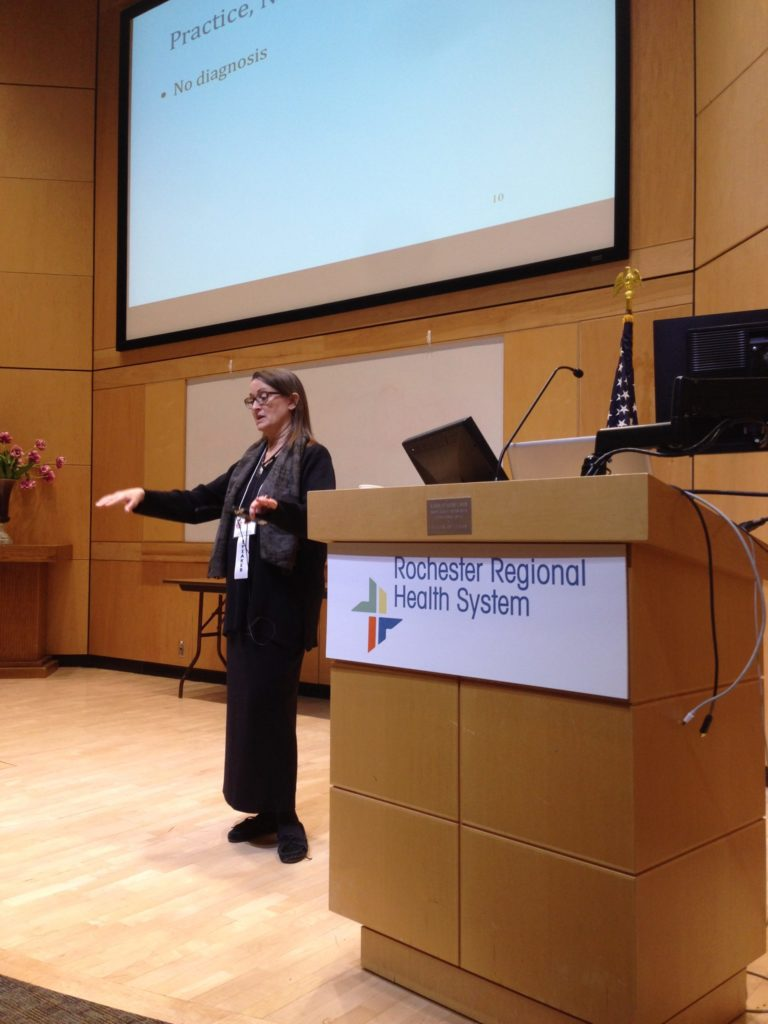 Pamela Miles presenting at Rochester Regional Health System