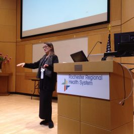 Pamela Miles presenting at Rochester Regional Health System